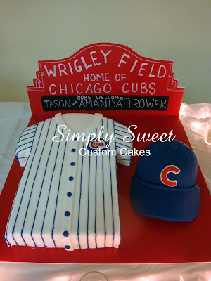 Simply Sweet: Chicago Cubs Wedding