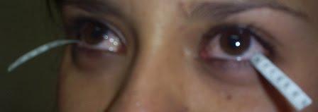 medicion de lagrimeo para saber si  puede utilizar lentes de contacto