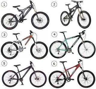 Foto  Berbagai Jenis/Merk Sepeda MTB