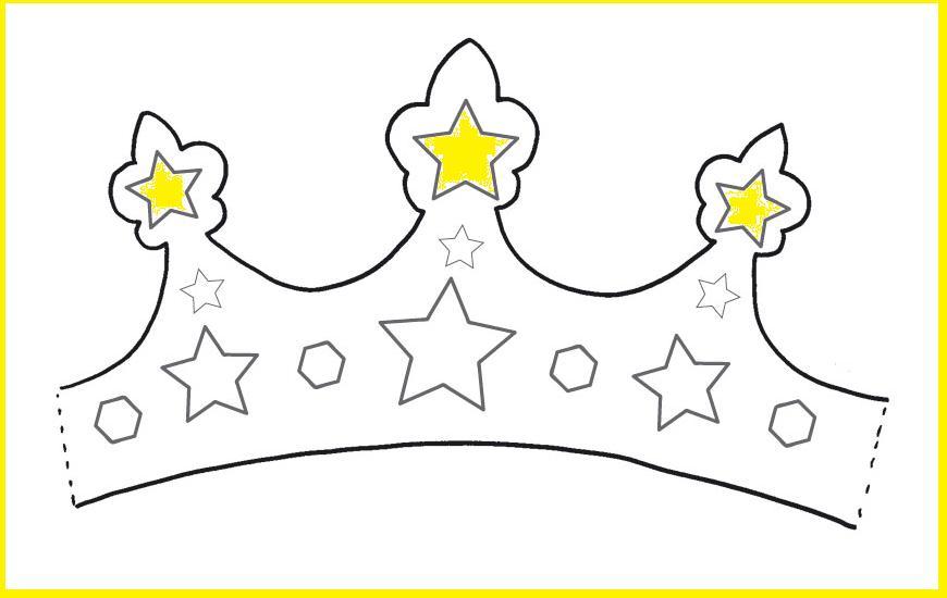 molde de coroa para cantar as janeiras Estrela