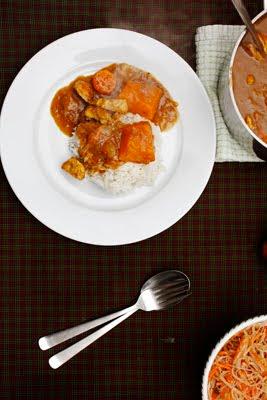 caper berry: apple pumpkin japanese chicken curry rice