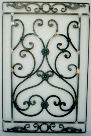 farmweld wrought iron door panel and new gate topper. Black Bedroom Furniture Sets. Home Design Ideas