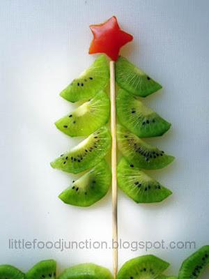 Arbol de Navidad con kiwi