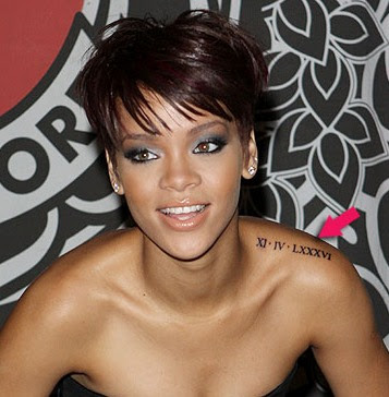Rihanna opts for subtle, small tattoos varying from symbols,