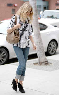 sienna miller striped chanel shirt