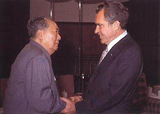 Richard Nixon and Mao Tse Tung