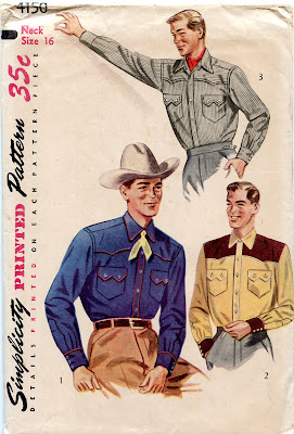 Unsung Sewing Patterns Simplicity 4150 Mens Western Shirt