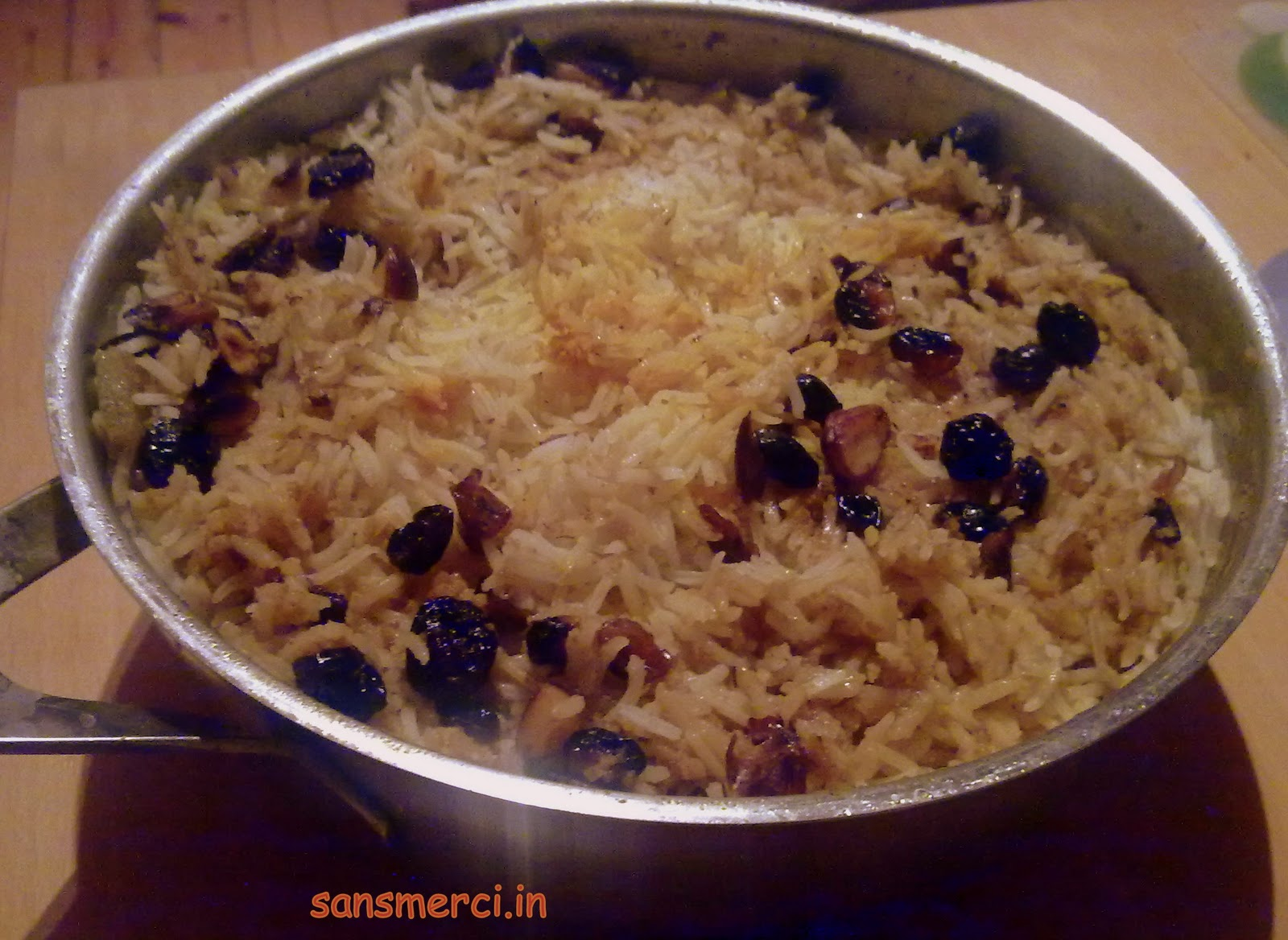 how to cook biryani rice only