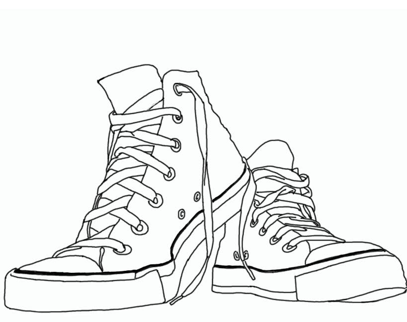 Line Drawing Shoes : Just funcrafts tip top high