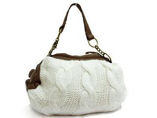 вязаная сумка с косами