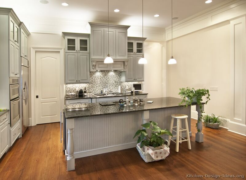 Grey Kitchen Cabinets Gray Walls