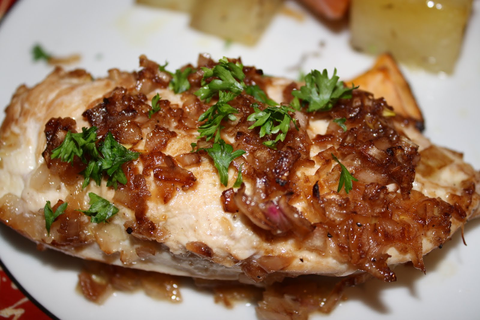 Lactose-Free Girl: Roasted Chicken with Caramelized Shallots