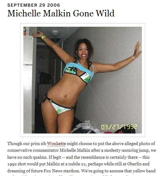 nude pictures of michelle malkin