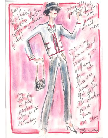 karl lagerfeld sketches. Karl Lagerfeld sketches