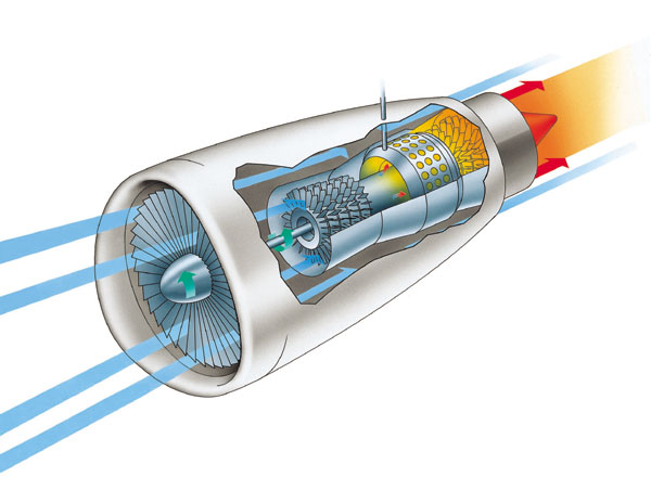 Cyberspace aircraft jet engine