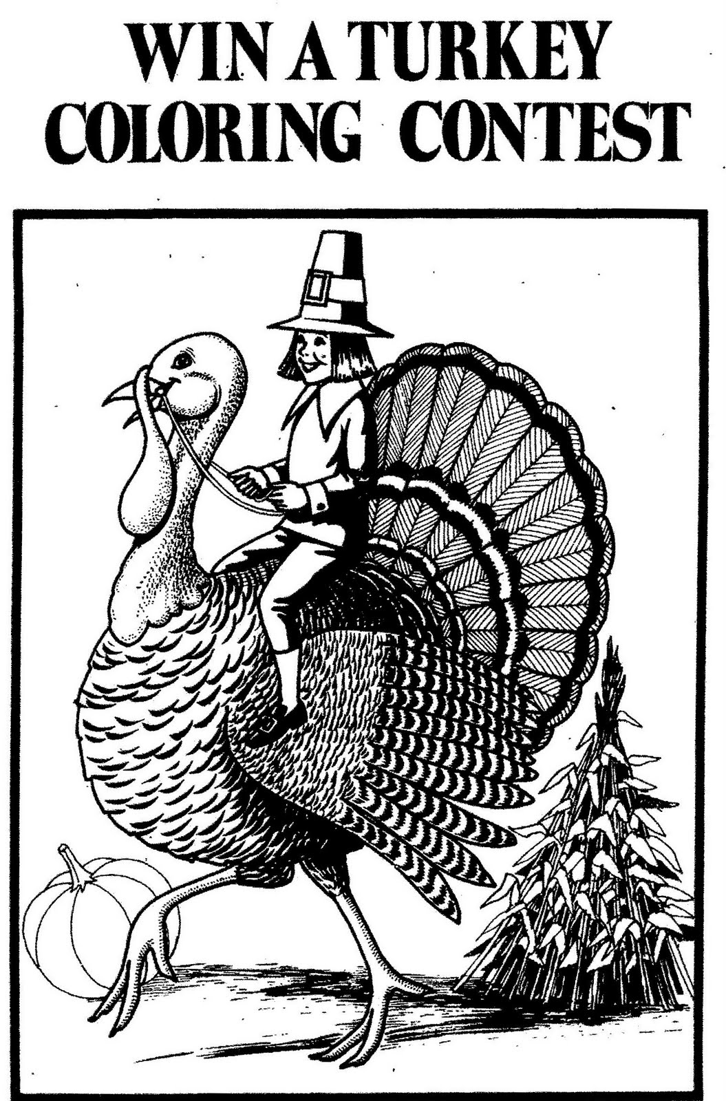 mostly paper dolls  win a turkey coloring contest  1973