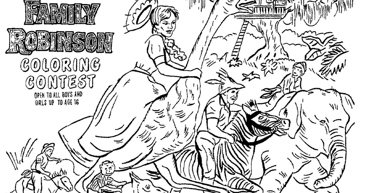 Mostly Paper Dolls THE SWISS FAMILY ROBINSON Movie Coloring Contest 1961