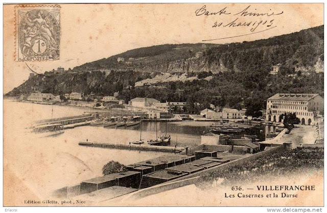 Ma tres du vent mdv 1896 une escadre fran aise devant - Port de la darse villefranche sur mer ...