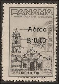 En 1964 el gobierno de Panamà dio a bien impreso la Iglesia de Natá en correo