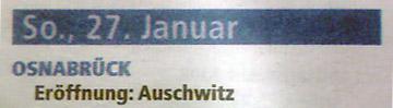 Eröffnung Auschwitz
