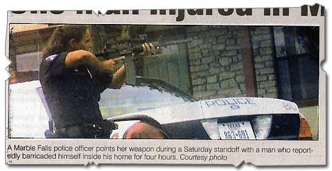 Polizistin USA M4