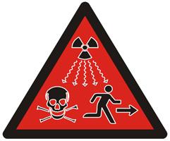 IAEA Warnschild nukleare Strahlung neu