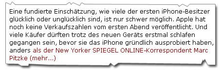 iPhone Testbericht Spiegel