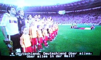 Untertitel Deutsche Nationalhymne EM2008 - Schweizer Fernsehn SF2 - Deutschland - Österreich