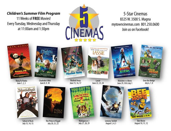 Enjoy Utah!: FREE Summer Movies!!!
