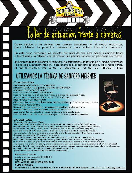 TALLER DE ACTUACION FRENTE A CAMARAS