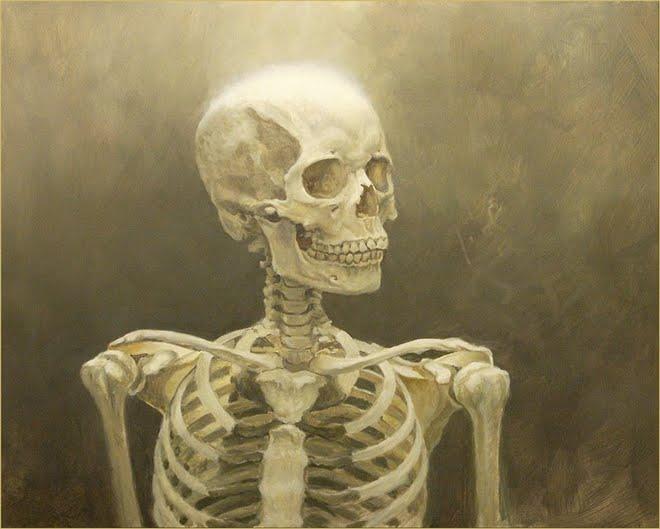 Work In Progress ~Study of a female skeletal bust.