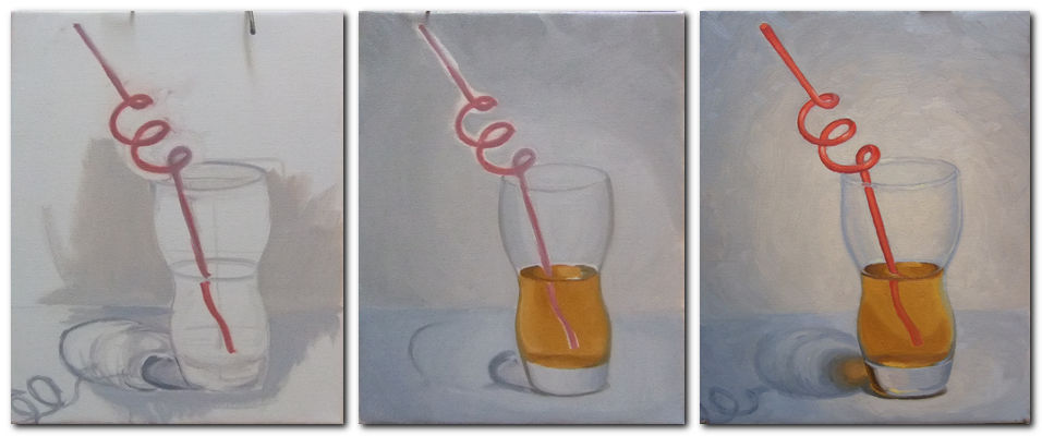 Bmf art painting glass in oil for How to paint glass with oil paint