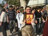 Dalai Lama portrait on the streets of Lhasa