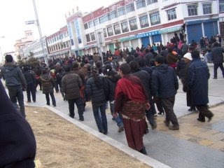Tibetan protest march