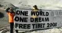 Free Tibet at Everest