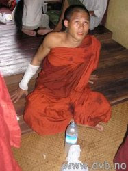 Wounded monk