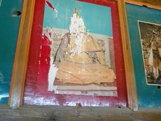 Shrine for Dalai Lama defaced