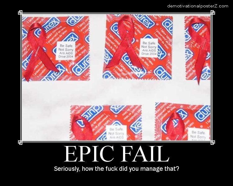 Epic Fail Condom Pierced With Stapler