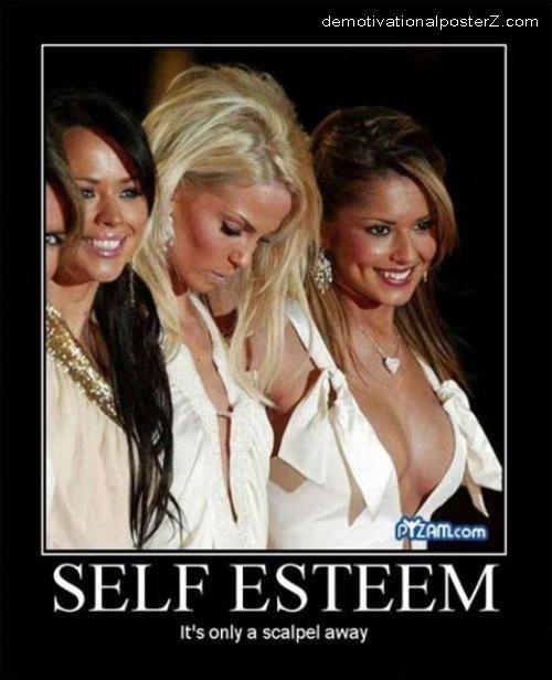 Self esteem is only a scalpel away