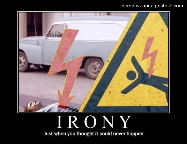 lightning Irony - Just when you thought it could never happen