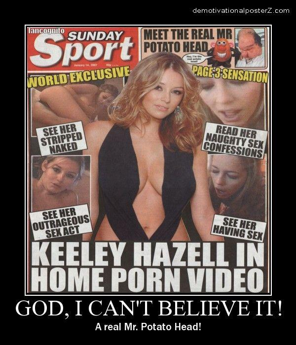 Keeley Hazell in home porn video real mr. Potato Head!