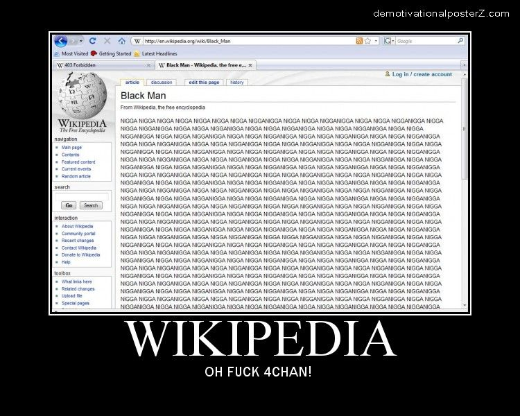 Wikipedia black man nigger 4chan