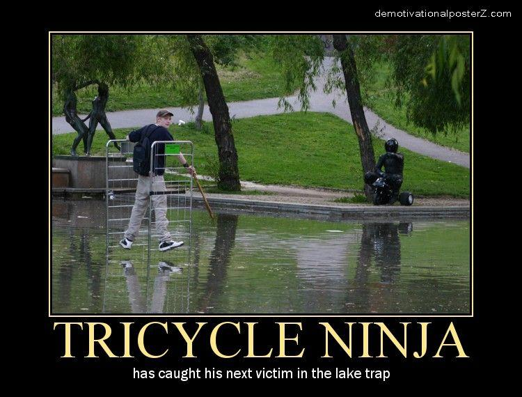 tricycle ninja motivational poster posters