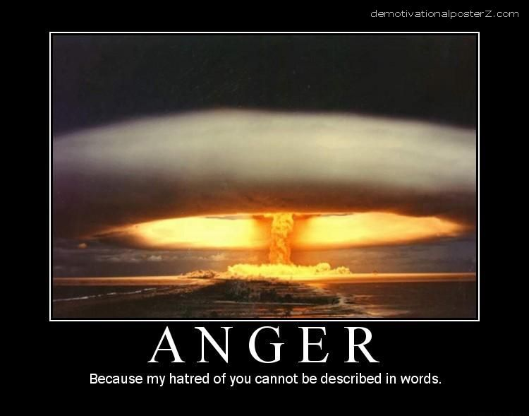 Anger motivational poster