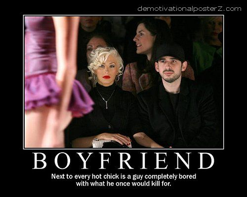 Next to every hot chick is a guy completely bored with what he once would kill for