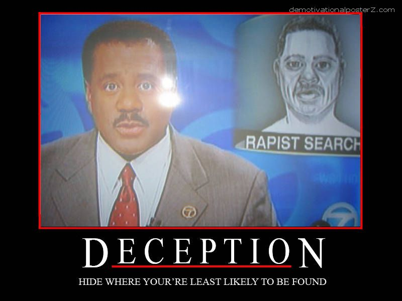 Rapist search, black TV anchor