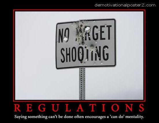 No target shooting - Regulations