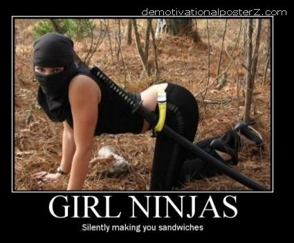 girl ninjas making you sandwiches motivational
