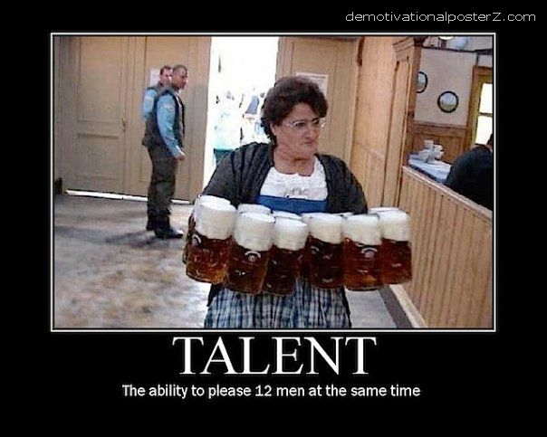 Talent motivational poster