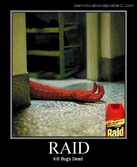 Spiderman killed by Raid